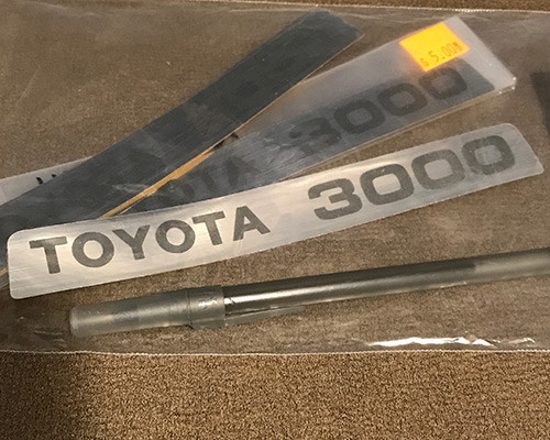 Toytota 3000 decal.