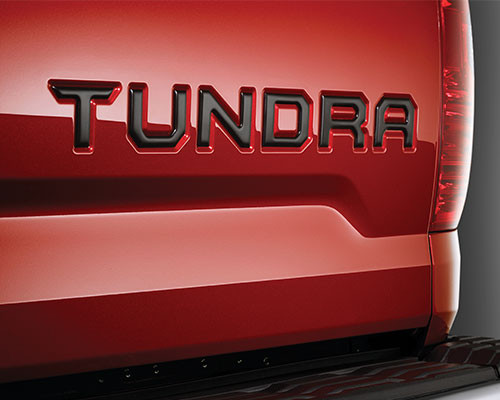 Tundra Tailgate Insert Badge - Black
