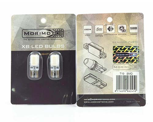 Morimoto 194/T10 LED Wedge Bulbs Pair  (White 5500K)
