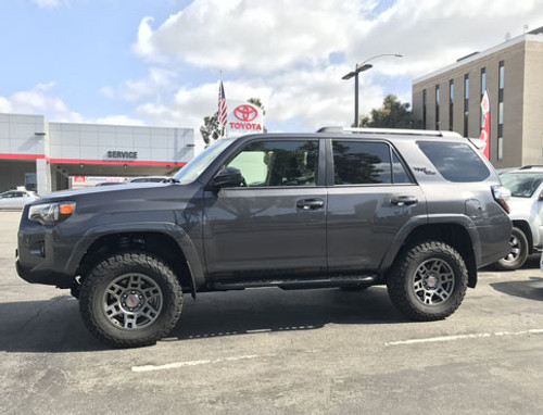 PTR20-35110-GR Matte Gray 17 in TRD wheels on a Toyota 4Runner.