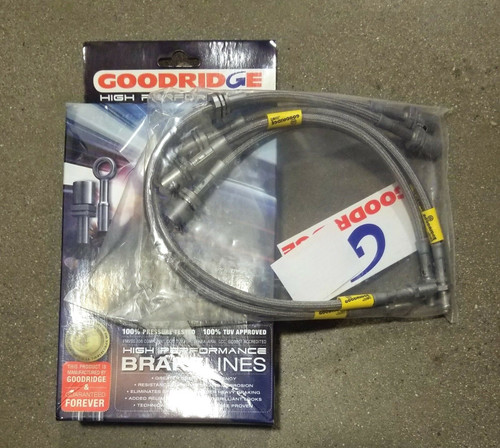 GOODRIDGE 5PC STAINLESS STEEL BRAIDED BRAKE LINES