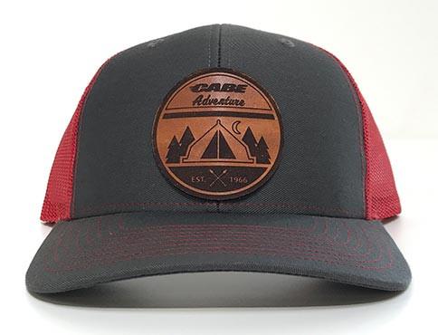 5d024d009 Cabe Adventure Leather Patch Hat
