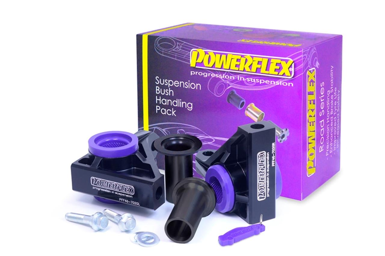 850 S70 V70 up to 2000 POWERFLEX BLACK Fr Upper Bulkhead Mount PFF88-106BLK