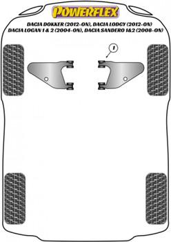 Powerflex Front Lower Wishbone Bush PFF13-101
