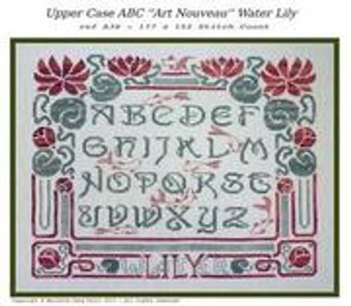 """ABC """"Art Nouveau"""" Water Lily / Filigram"""