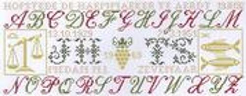 ABC met Sterrenbeelden (Zodiac) / Jan Houtman Designs