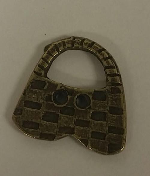Olde Brass Button - Basket / Homespun Elegance Ltd