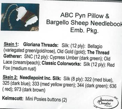 ABC Pyn Roll & Bargello SheepNeedlekeep / Jeannette Douglas Designs