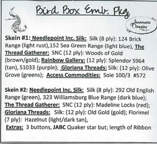 Bird Box / Jeannette Douglas Designs