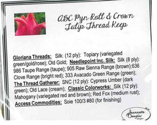 ABC Pyn Roll & Crown Tulip / Jeannette Douglas Designs