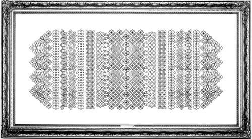 Blackwork Band Study #1 / Chelsea Buns Cross Stitch