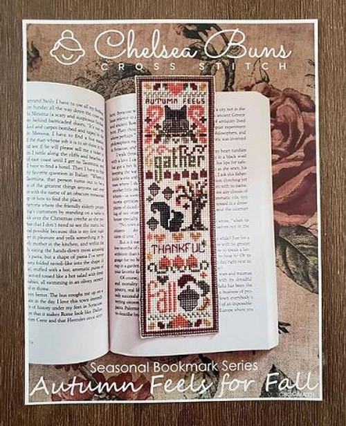 Autumn Feels for Fall - Seasonal Bookmark Series / Chelsea Buns Cross Stitch