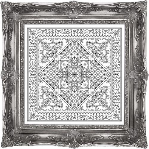 Calla Lily Glass Tile / Chelsea Buns Cross Stitch