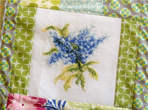 Blue Lilacs / Country Garden Stitchery