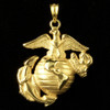 Made by Marines for Marines, EGA Open Back in stunning 10k Gold The Ocean is Diamond etched to make the Eagle Globe and Anchor stand out.  This EGA pendant will make a lasting statement.