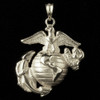 USMC Eagle Globe & Anchor Sterling Silver Pendant