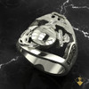 """United States Marine Corps Graduation Ring Solid Sterling Silver Open Design 1775/USMC  """"Made by Marines for Marines"""" 100% Satisfaction Guaranteed"""