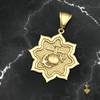 USMC EGA in 8 Point Star Gold Pendant  10k Gold