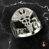 Navy USMC Corpsman Ring White Gold or Silver