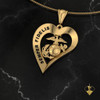 SEMPER FIDELIS Yellow Gold Heart Pendant