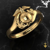 Eagle Globe and Anchor perched upon yellow gold arms