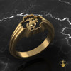 Decorative Yellow Gold Band with EGA Inset