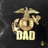 """Proud Marine Dad Lapel Pin/Tie Tac 10k available in Sterling Silver, 14k and 18k White or Yellow gold. """"Made by Marines for DAD""""  100% Satisfaction Guaranteed"""