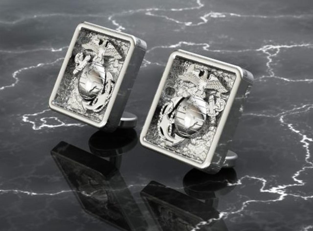 USMC Sterling Silver EGA Cufflinks