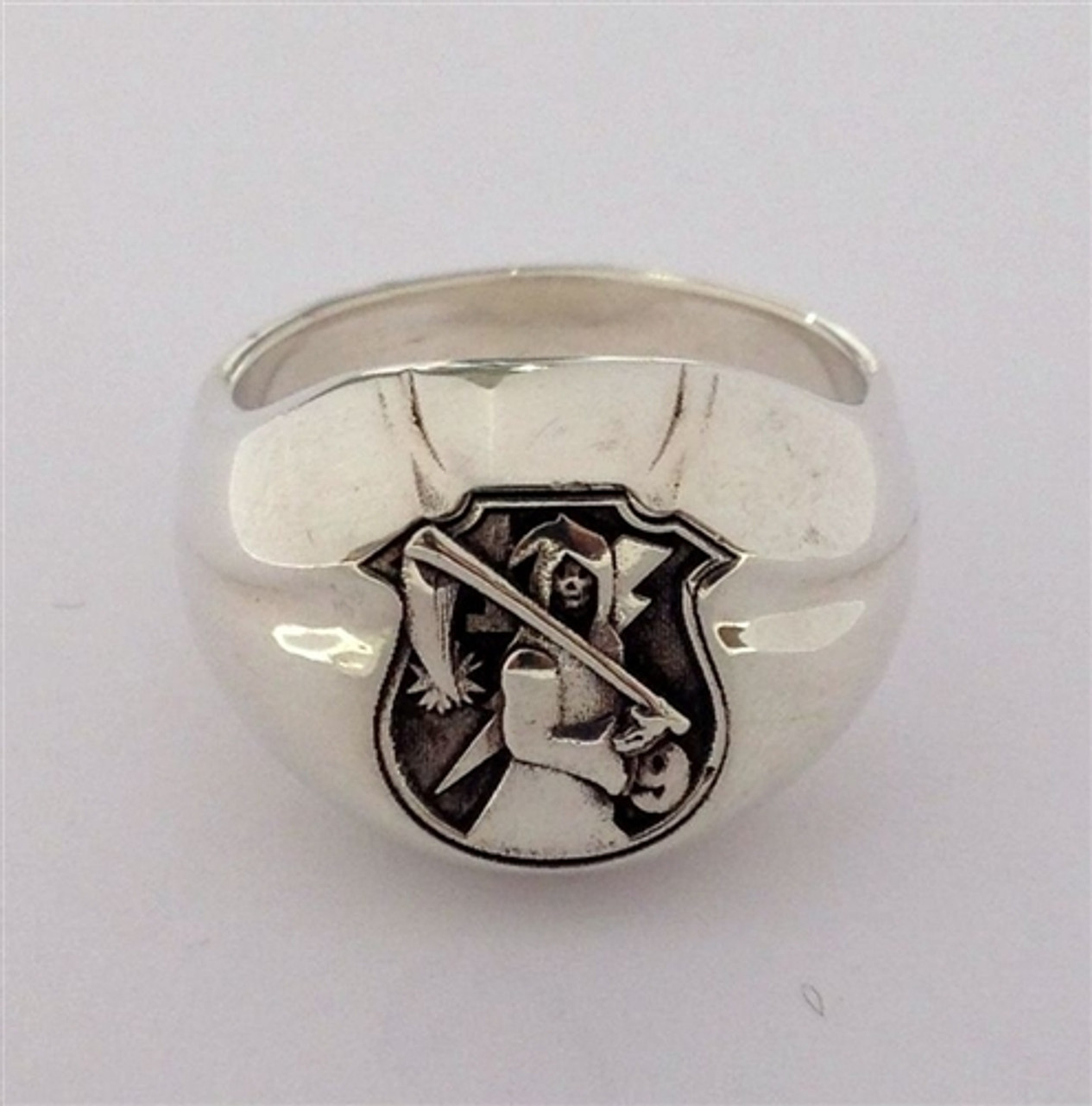 USMC Sterling Silver  The Walking Dead Signet Ring