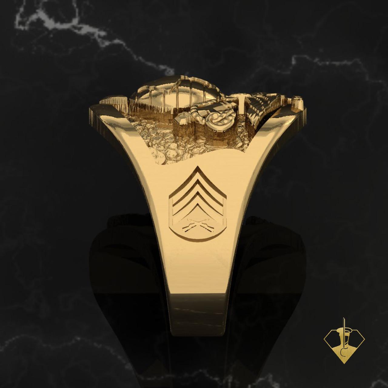 Marine Men's Ring custom rank