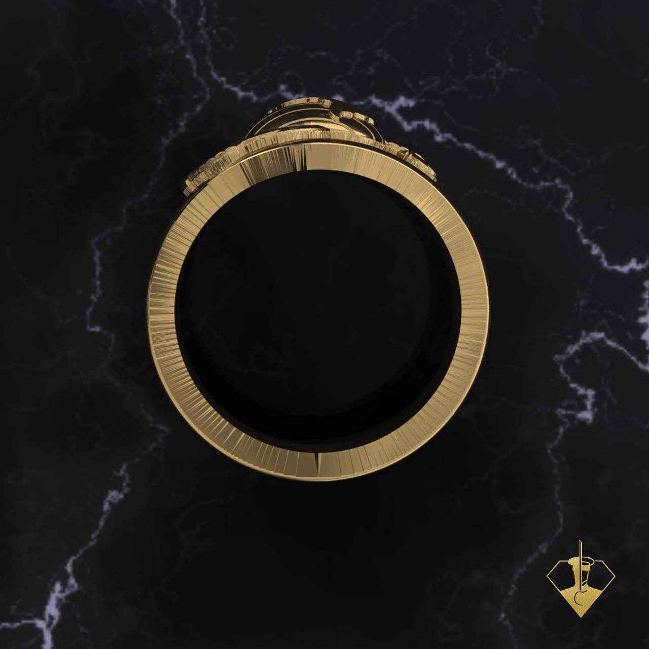 Custom Gold Marine Men's Ring