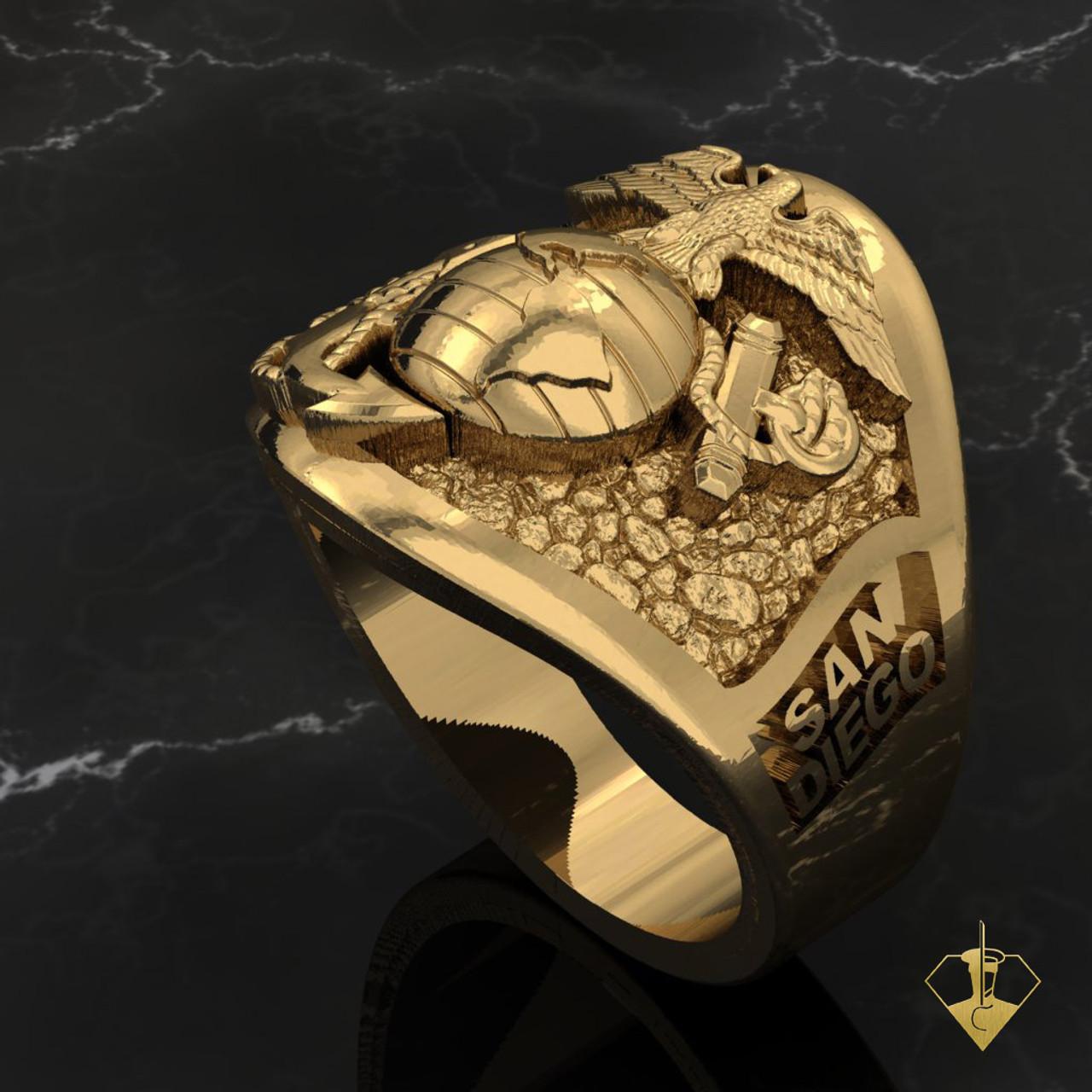 San Diego Graduation Ring 10k Yellow Gold
