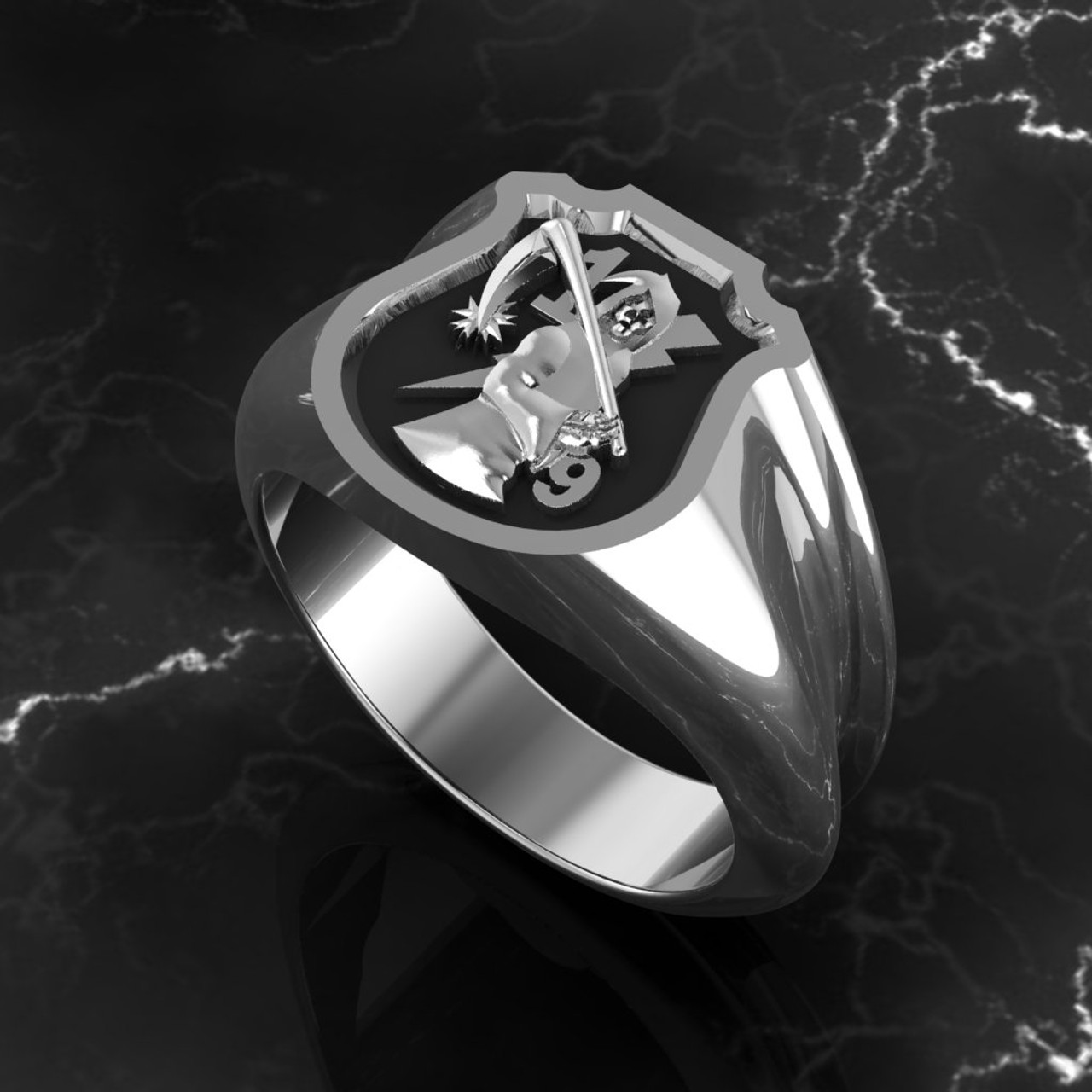 The Walking Dead Signet Ring Solid Sterling Silver Made by a 1/9er