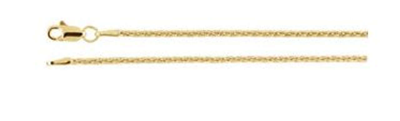 "14K Yellow Gold 1.5mm Wheat 18"" Chain"