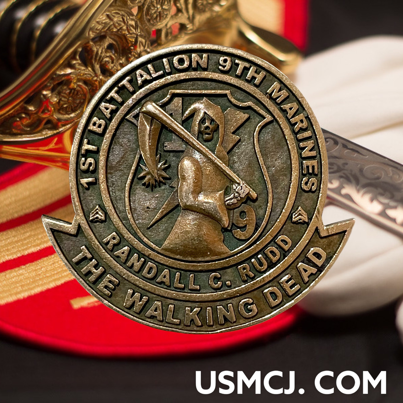 MCC19B THE WALKING DEAD CHALLENGE COIN MADE BY MARINES FOR MARINES
