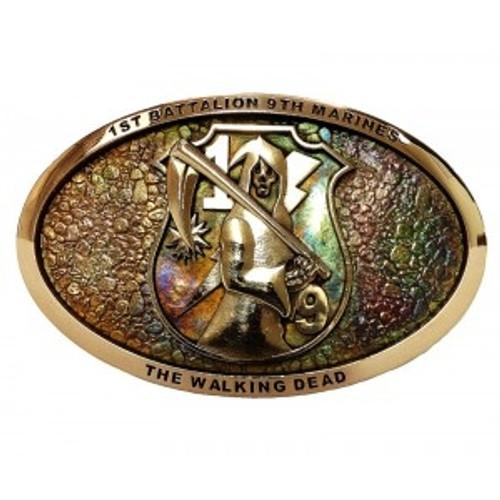 """Marine Corps """"The Walking Dead 1/9"""" Belt Buckle"""