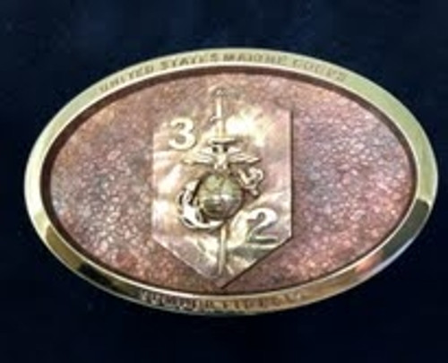 Marine Coprs 3rd Battalion 2nd Marines Belt Buckle
