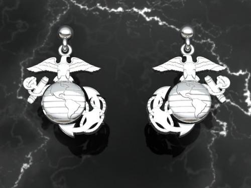 USMC 14k Gold EGA Earrings