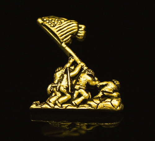 USMC  Iwo Jima 10k Gold Pendant