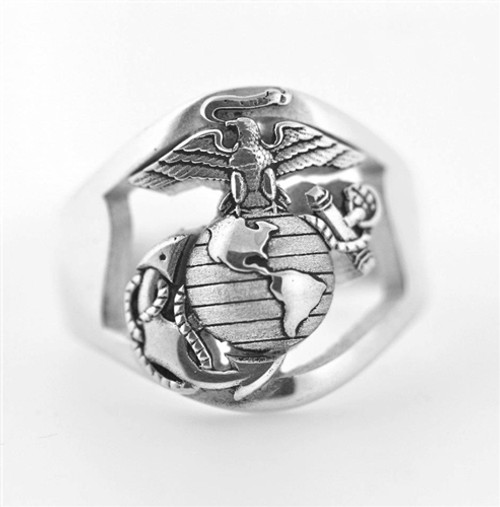 USMC Sterling Silver Marine Corps Ring