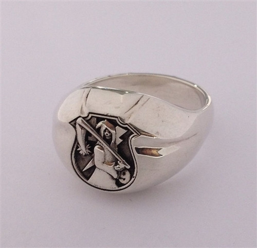 THE WALKING DEAD STERLING SILVER SIGNET RING