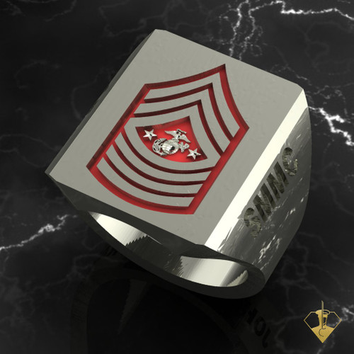 "Sargent Major of The Marine Corps   ""Made by Marines for Marines"" available in Sterling Silver, 10k, 14k and 18k White or Yellow gold.  Black or Red Enamel Background   100% Satisfaction Guaranteed"