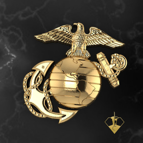 USMC Eagle Globe and Anchor 14k Yellow Gold Tie Tac