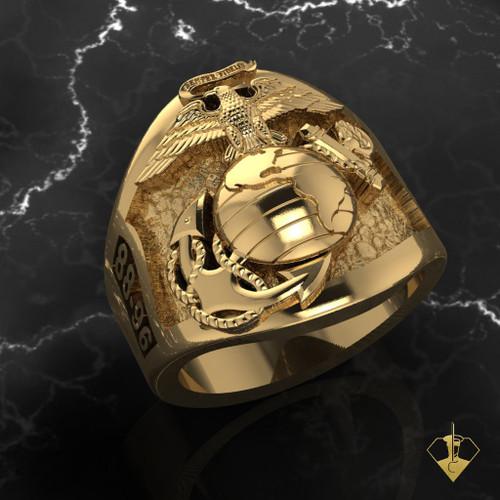 USMC Custom Designed EGA Ring