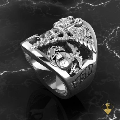 USN Marine Corpsman Ring