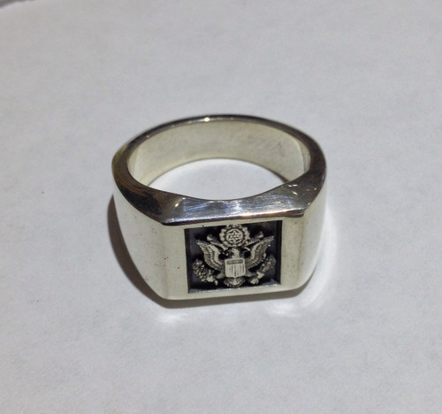 USAF Sterling Silver Signet Ring Great Seal of the United States