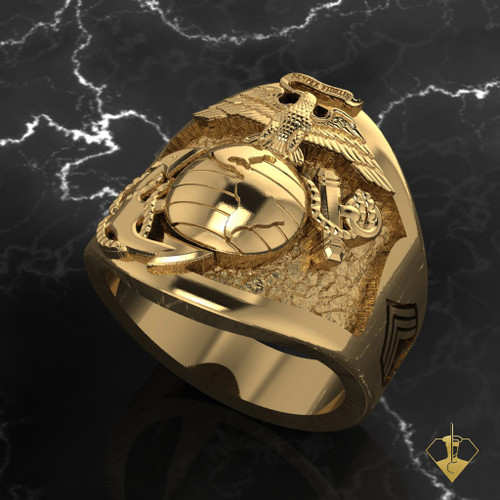 US Marine Corps Cusotom Designed Ring