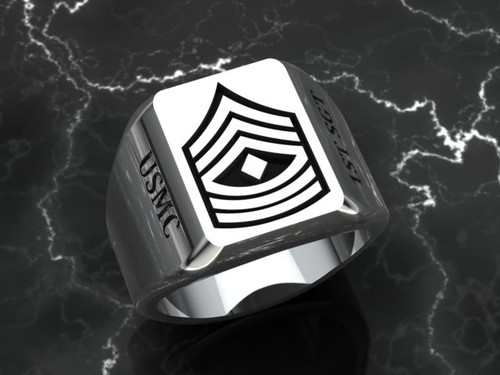 1st Sgt Solid Sterling Silver ring, this ring is made to last a a life time