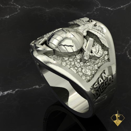 San Diego Graduation Ring 10k White Gold