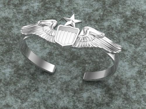 Senior Pilot Bracelet in Solid Sterling Silver